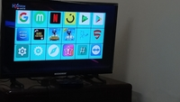 Used 24 inch TV and andoriod box with woofer in Dubai, UAE