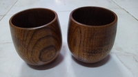 Used Chinese wooden cup 2 pcs in Dubai, UAE