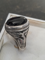Used Men's s66 929 silver gold with agate in Dubai, UAE