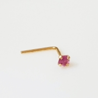 Used 14K Solid Gold 2mm Natural Pink Sapphire in Dubai, UAE