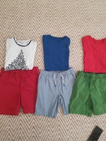 Used 6 Gap shorts and tshirts for 7-8 yrs old in Dubai, UAE