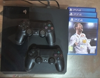 Used Sony PlayStation 4 with TV and 12 PS4 CD in Dubai, UAE