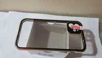 Used Double sided buckle iPhone case Golden in Dubai, UAE