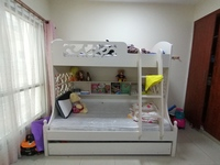 Used White Bunk Bed with extra bed in Dubai, UAE