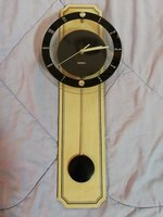Used Beautiful vintage glass with wood clock in Dubai, UAE