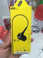 Used K28 Stereo earphones Black color 5 Pcs in Dubai, UAE