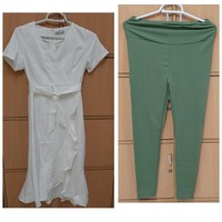 Used White dress and pant for her, XL in Dubai, UAE