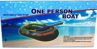 Used One person rowing boat with oar foot pum in Dubai, UAE