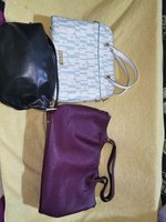 Used 3 pieces leather women bags for sale in Dubai, UAE