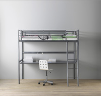 Used Bunk bed with study with mattress in Dubai, UAE
