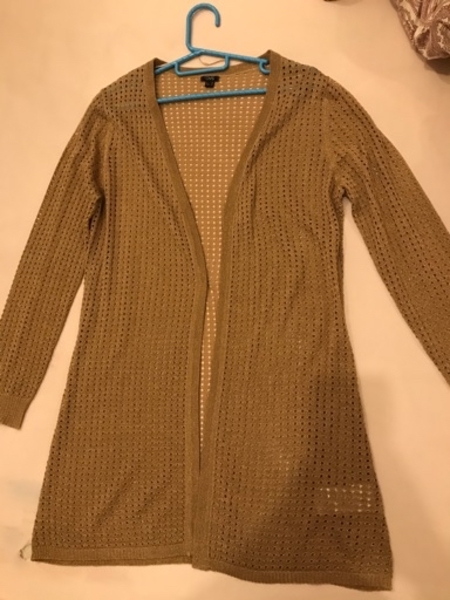 Used OVS ladies jacket gold color used once in Dubai, UAE