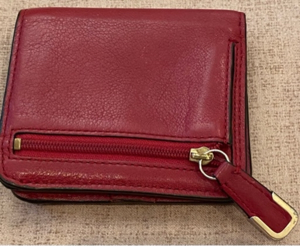 Used Authentic Rare Red Coach wallet Europe in Dubai, UAE