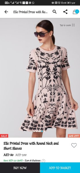 Used Pink black women dress - ladies in Dubai, UAE