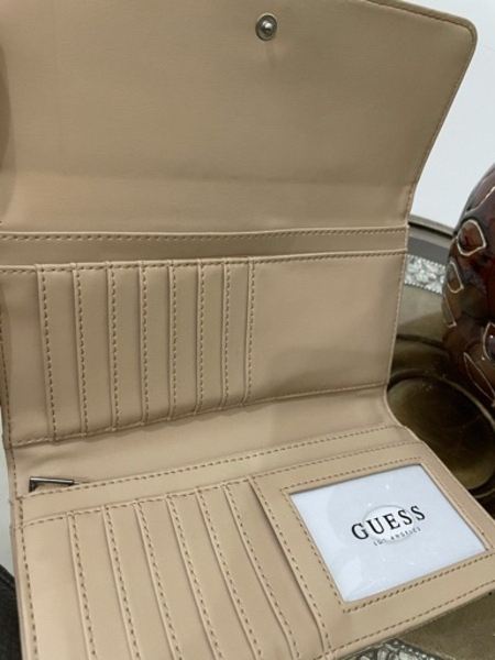Used Authentic Guess Wallet Gold Color in Dubai, UAE