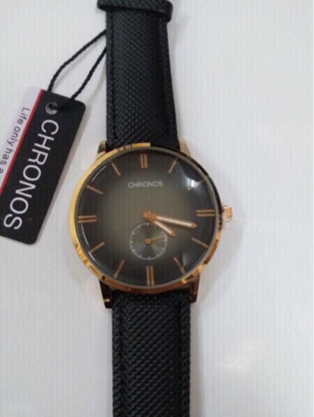 Used men watch black leather in Dubai, UAE