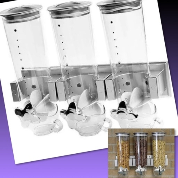 Used TRIPLE CANISTERS CEREAL DISPENSERS in Dubai, UAE