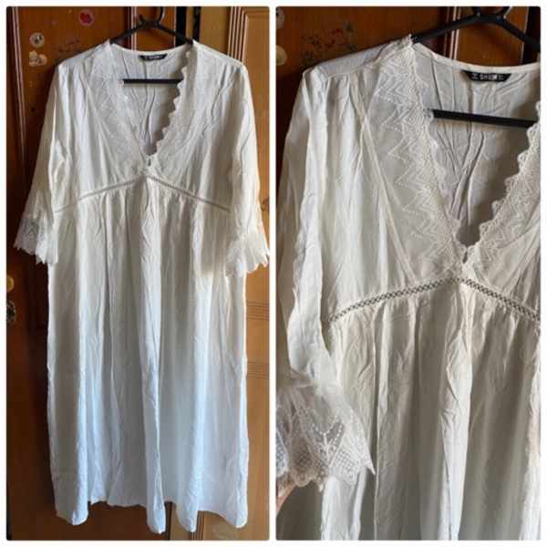 Used White curve nightdress in Dubai, UAE