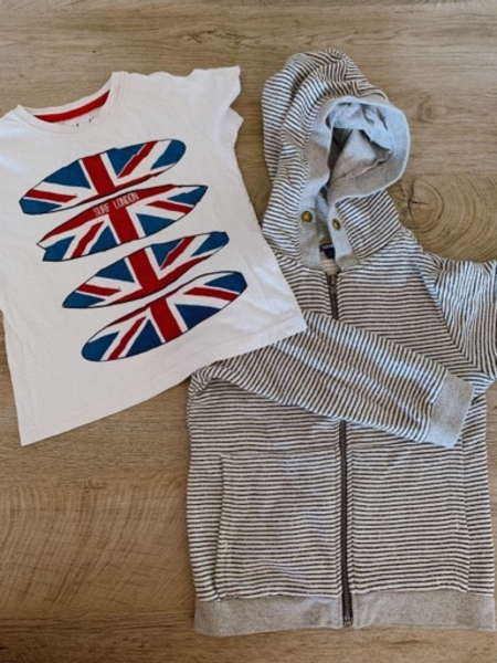 Used Set of clothes for boy 3-5 years(5pi in Dubai, UAE
