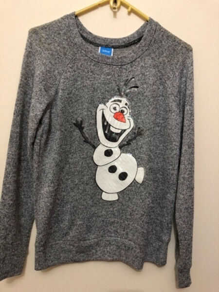 Used Disney's Frozen Olaf Grey Knit Sweater in Dubai, UAE