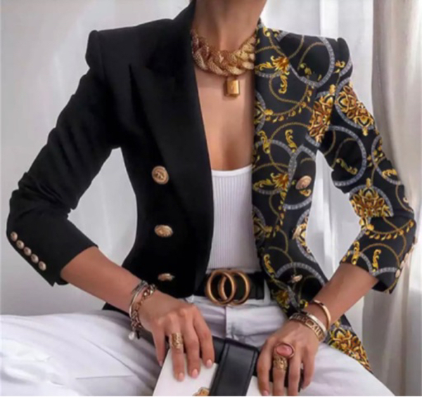Used DOUBLE BREASTED PRINT SUIT/3XL in Dubai, UAE