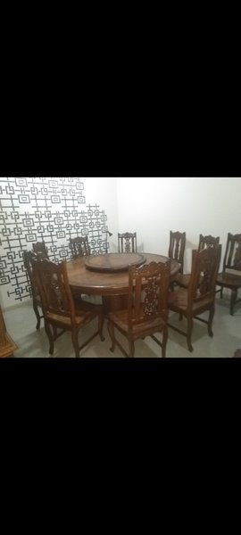 Used Table with 8 chairs in Dubai, UAE
