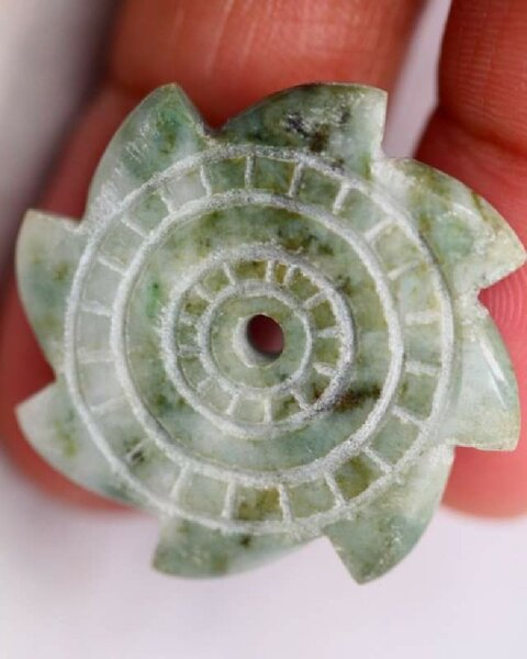 Used Natural Burmese Jadeite Carving Pendant in Dubai, UAE