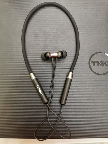 Used Lenovo Headphone Original Red  Black in Dubai, UAE