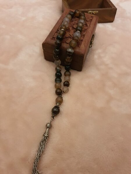 Used Rosary natural stone with box💣💣💣 in Dubai, UAE