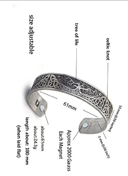 Used . New Lifefree magnetic bracelet antique in Dubai, UAE