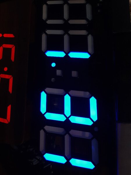 Used Blue Light Digital Clock ! in Dubai, UAE