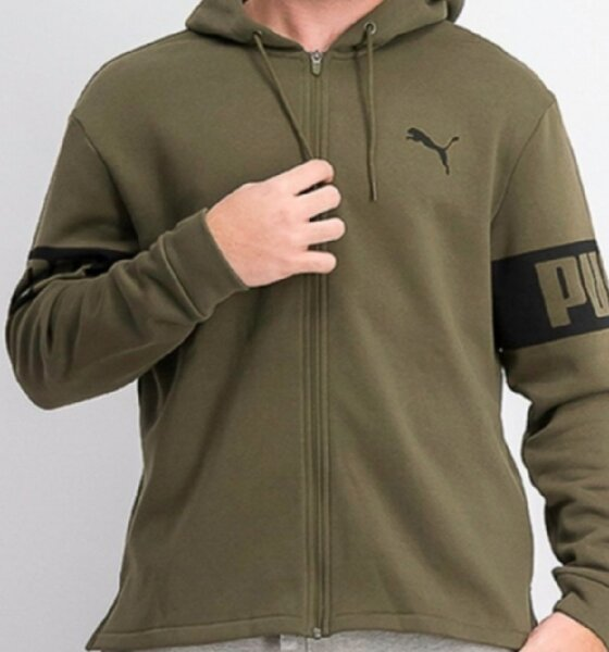Used PUMA men's jacket full Zip with hoodie in Dubai, UAE