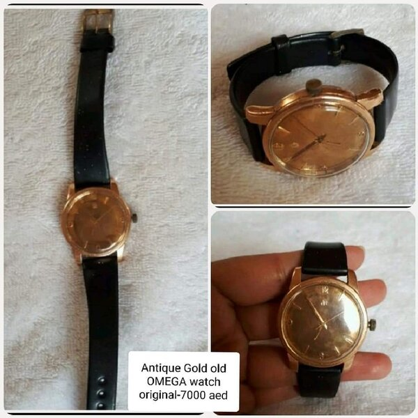 "Used Antique gold OMEGA watch "" very rare in Dubai, UAE"