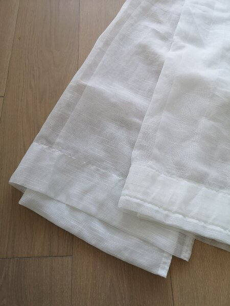 Used Ikea Sheer White Curtains Two Pieces in Dubai, UAE
