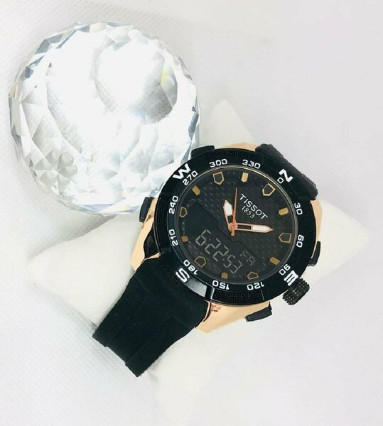 Used Tissot Black/gold resin band watch in Dubai, UAE