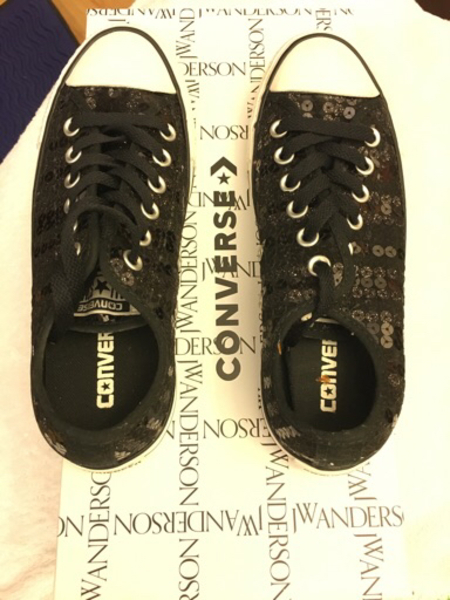 Used Converse sequins 'brand new black in Dubai, UAE