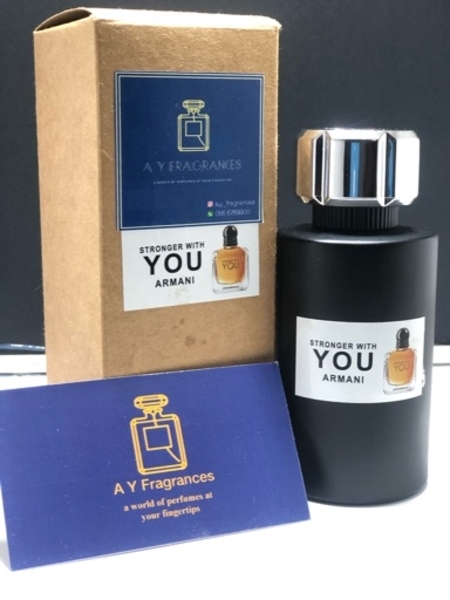 Used Armani stronger with you perfume 100 ml in Dubai, UAE