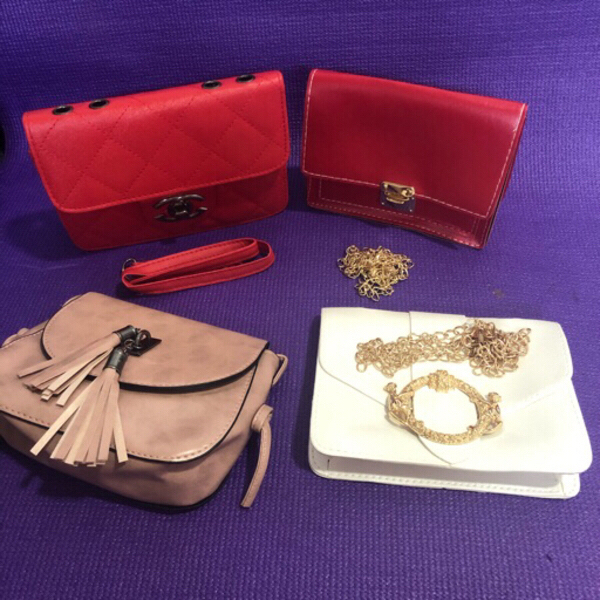 Used 4 pcs of Mini Shoulder Bags in Dubai, UAE
