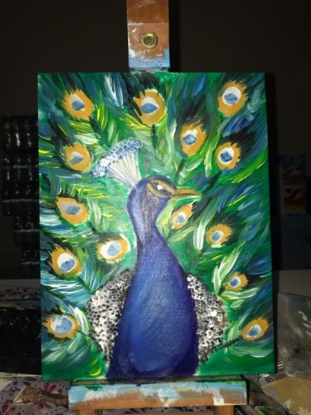 Used Peacock painting in Dubai, UAE