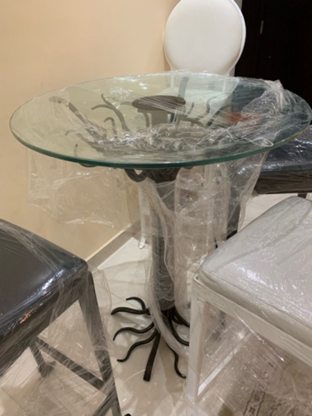 Used stool chair and table in Dubai, UAE