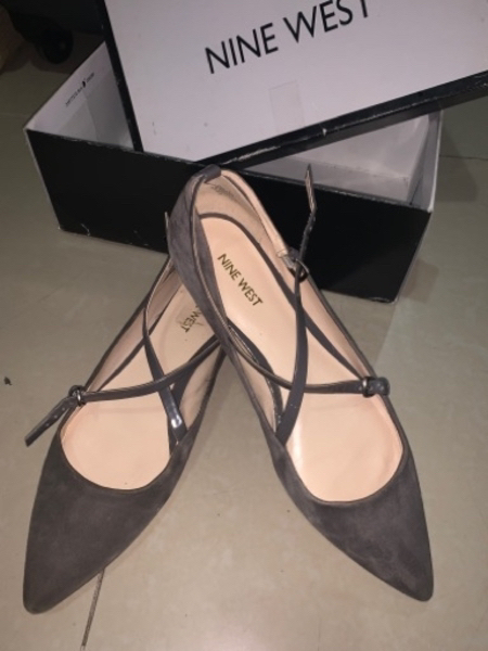 Used NINE WEST grey sued flats size 9 in Dubai, UAE