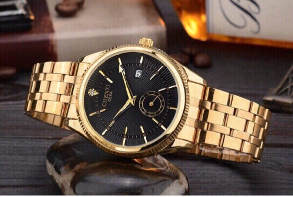 Used chenxi gold color men watch in Dubai, UAE