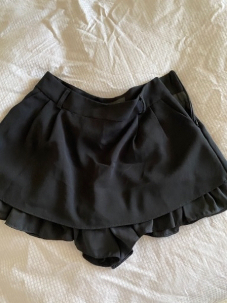 Used Shorts/skirt black color Korean designer in Dubai, UAE