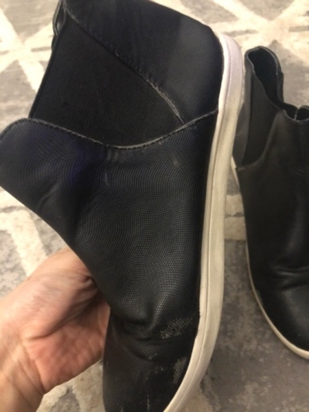 Used Black sneakers size 35 and half in Dubai, UAE