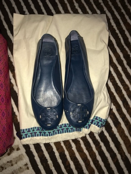 Used Authentic Tory Burch ballerina size 37 in Dubai, UAE