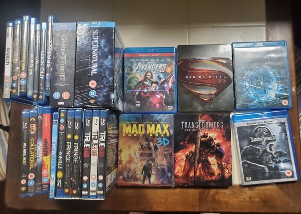 Used Bluray 4 box sets and 18 movies in Dubai, UAE