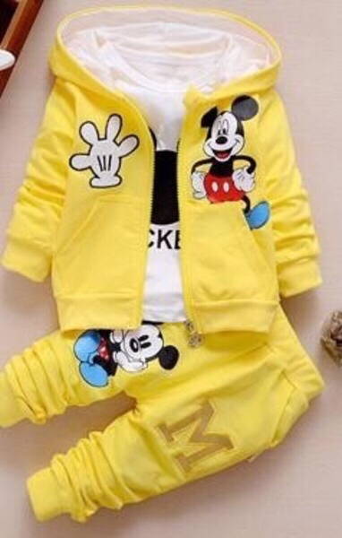 Used Mickey Mouse Suit Set/ 12 mos old in Dubai, UAE