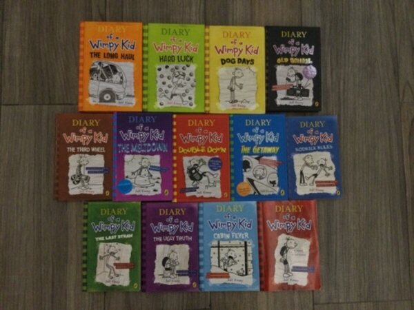 Used Diary of a wimpy kid book collection in Dubai, UAE