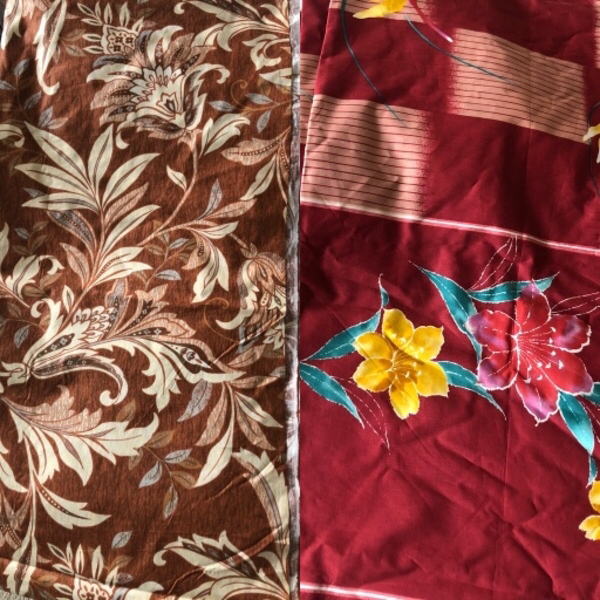 Used Cotton fabrics (4 yards each) in Dubai, UAE