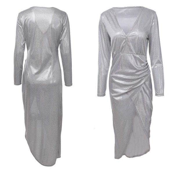 Used Brand new glittery silver dress size L in Dubai, UAE