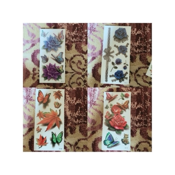 Used 3d tattoo sticker 10pcs 1 set in Dubai, UAE